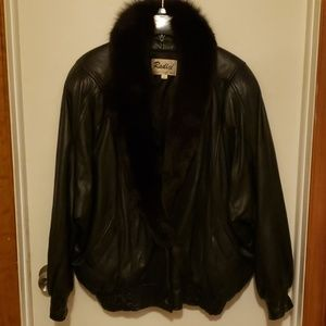 Wilsons Leather and Fox Fur coat